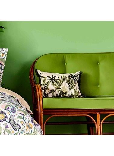 Bella Maison %100 Polyester Flamingo Dekoratif Yastık (35x50 cm) Yeşil